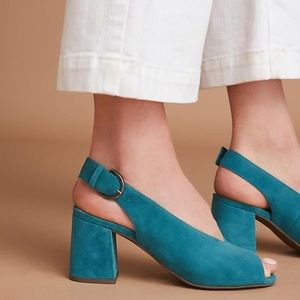 Seychelles Playwright Pump Teal 7.5